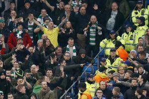 Un suporter de la Celtic a fost arestat pentru că a aruncat cu hamburger în calul unui polițist