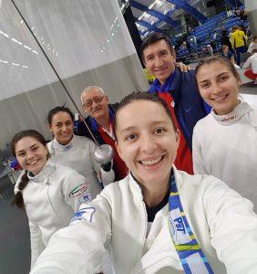 Echipa feminină de spadă a României, locul 11 la Cupa Mondială de la Tallinn