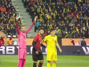 Meci amical  Romania – Turcia 2-0  ( 1-0 )