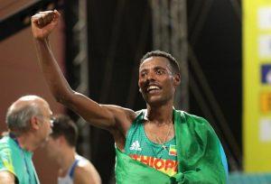 Doi etiopieni pe podiumul maratonului de la Doha