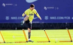 Lionel Messi s-a antrenat separat