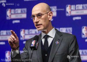 """Baschet: NBA – Răspândirea """"semnificativă"""" a virusului ar ameninţa reluarea sezonului, avertizează Adam Silver"""