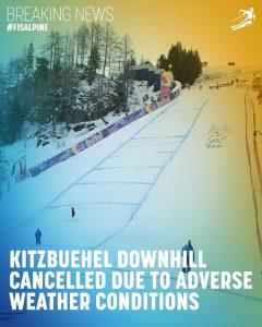 Coborârea de la Kitzbühel a fost anulată din cauza condițiilor meteo