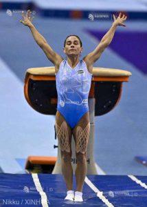 Oksana Ciusovitina, decana gimnasticii, dispută la 46 de ani a opta sa Olimpiadă